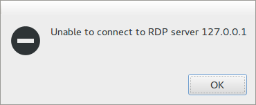 Unable to connect to TDP server 127.0.0.1